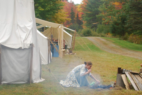 2018 Living History Getting the Fire Going